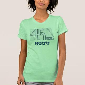 parte superior retro de 45 senhoras t-shirt