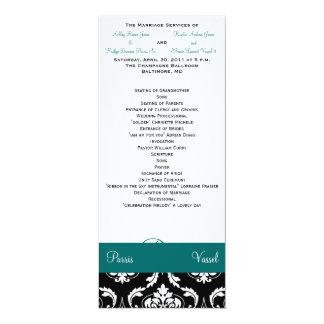 """Parte uma da cerimónia de casamento convite 10.16"""" x 23.49cm"""