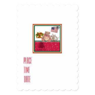 partido adorável do urso do Natal Convite 12.7 X 17.78cm