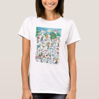 Partido bonito do pinguim do urso polar do Natal T-shirt