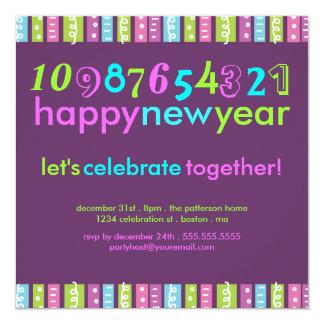 Partido brilhante festivo da celebração da véspera convite quadrado 13.35 x 13.35cm