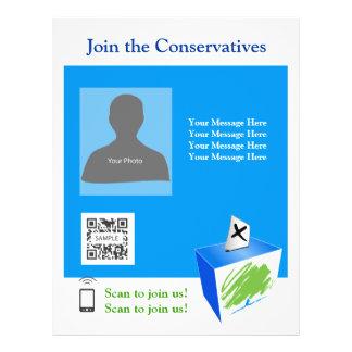Partido conservador do modelo do insecto modelos de panfleto