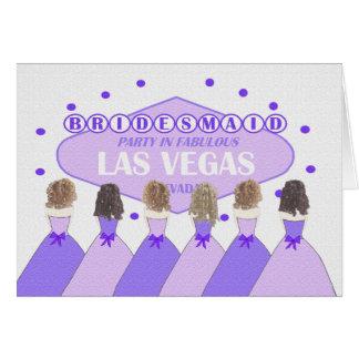 Partido da DAMA DE HONRA em Las Vegas fabuloso Cartão Comemorativo