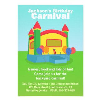 Partido de aniversário de criança - carnaval feliz convites personalizado