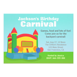 Partido de aniversário de criança - carnaval feliz convites