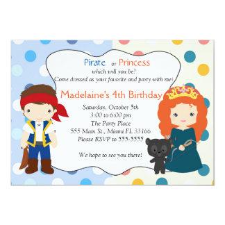 Partido de aniversário de criança da princesa convite 12.7 x 17.78cm