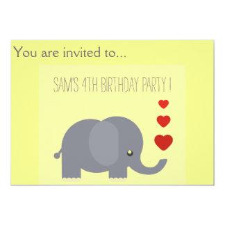 Partido de aniversário de criança das crianças do convite 12.7 x 17.78cm