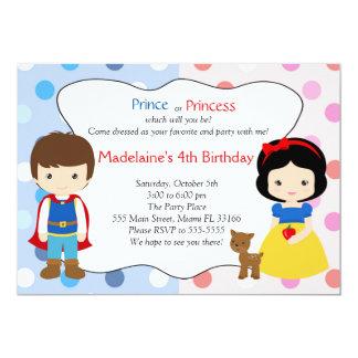 Partido de aniversário de criança do príncipe convite 12.7 x 17.78cm