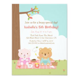 Partido de aniversário de criança exterior do convite 10.79 x 13.97cm