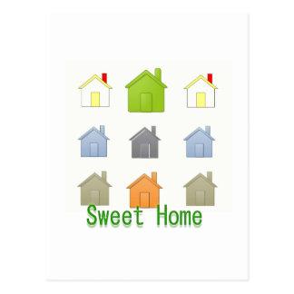 Partido de aquecimento da casa de SweetHome Cartão Postal