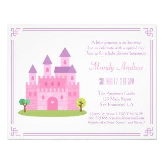 Partido de chá cor-de-rosa real do bebé da convite personalizado