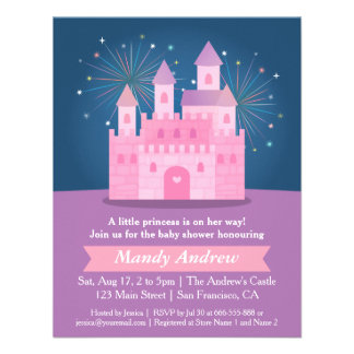 Partido de chá do bebé da princesa Castelo dos Convite Personalizados