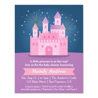 Partido de chá do bebé da princesa Castelo dos Convite 10.79 X 13.97cm