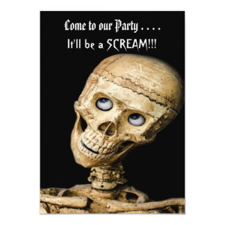 Partido de esqueleto engraçado do Dia das Bruxas Convite