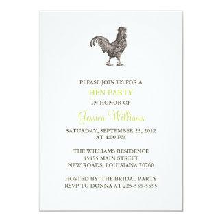 Partido de galinha convite 12.7 x 17.78cm