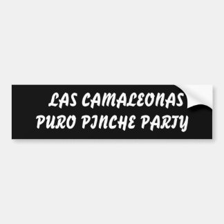PARTIDO DE LAS CAMALEONAS PURO PINCHE ADESIVO PARA CARRO