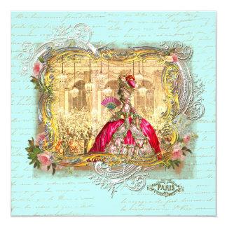 Partido de Marie Antoinette em artigos de Convite Quadrado 13.35 X 13.35cm