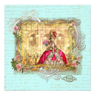 Partido de Marie Antoinette em artigos de papelari Convite
