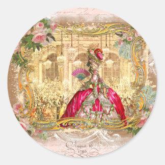 Partido de Marie Antoinette no rosa em Versalhes Adesivo