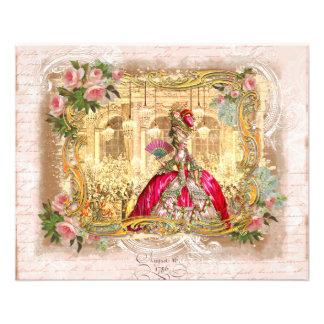 Partido de Marie Antoinette no rosa em Versalhes Panfletos Personalizados
