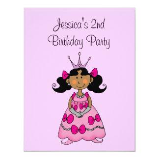Partido de segundo aniversário cor-de-rosa da convites