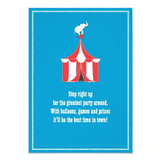 Partido de tenda do circus & de aniversário de convite personalizados