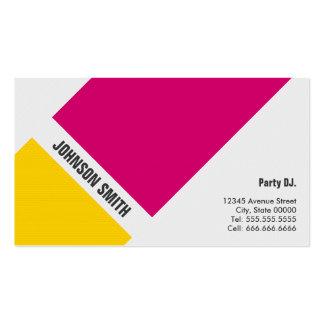 Partido DJ - Amarelo cor-de-rosa simples Cartão De Visita