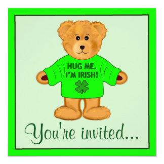 Partido do dia de Patrick de santo do urso de Convite Quadrado 13.35 X 13.35cm