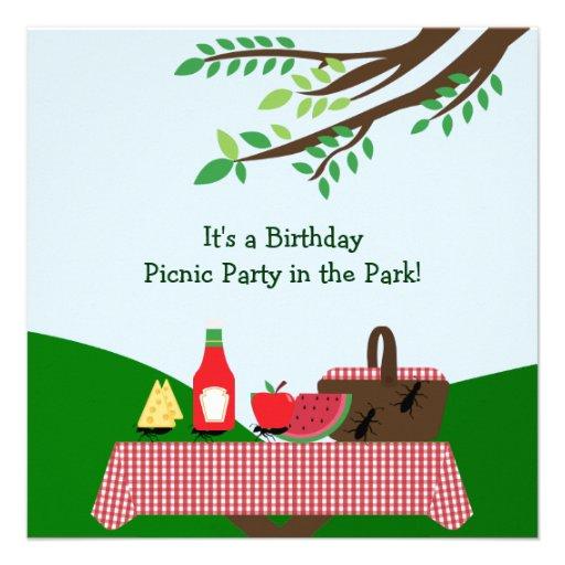 Partido do piquenique: Convite