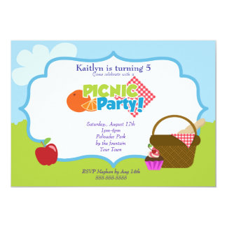 Partido do piquenique do parque convite personalizado