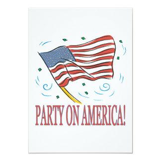 Partido em América Convite 12.7 X 17.78cm