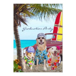 Partido engraçado customizável da praia da convite 12.7 x 17.78cm