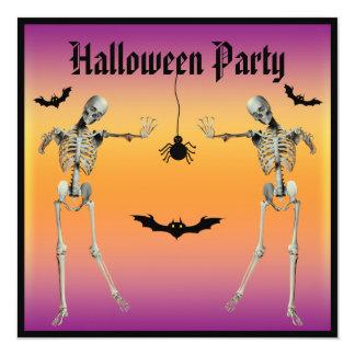 Partido engraçado do Dia das Bruxas dos esqueletos Convites Personalizado