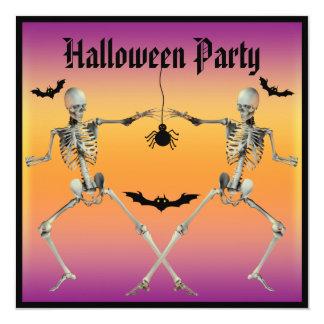 Partido engraçado do Dia das Bruxas dos esqueletos Convite Personalizados