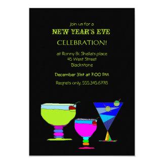Partido festivo da véspera de ano novo dos convite 12.7 x 17.78cm