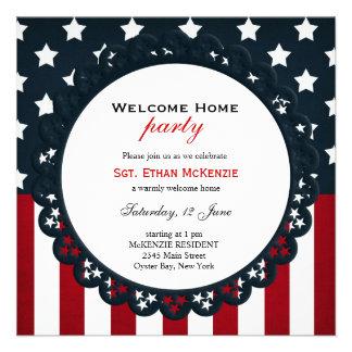 Partido militar Home bem-vindo Convite Personalizados