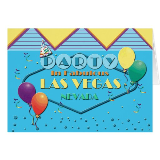PARTIDO no cartão fabuloso de Las Vegas