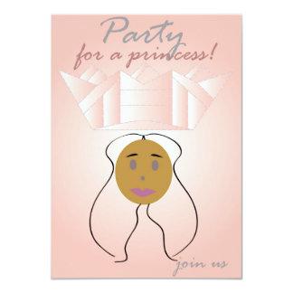 Partido para uma princesa convite 11.30 x 15.87cm