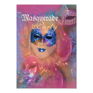 Partido venetian do carnaval da máscara do convite personalizados