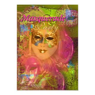 """Partido venetian do """"carnaval"""" da máscara do convites personalizado"""
