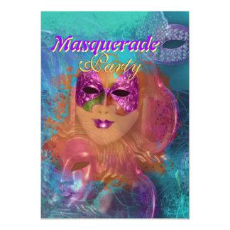 """Partido venetian do """"carnaval"""" da máscara do convite personalizados"""