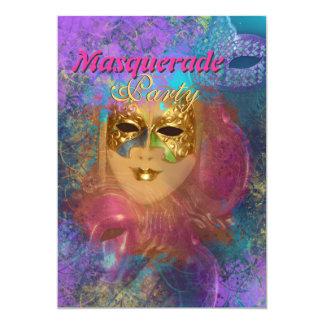 """Partido venetian do """"carnaval"""" da máscara do convites"""