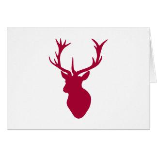 Partido vermelho do Natal ou de veado da cabeça do Cartão