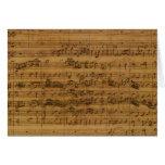 Partitura do vintage por Johann Sebastian Bach Cartões