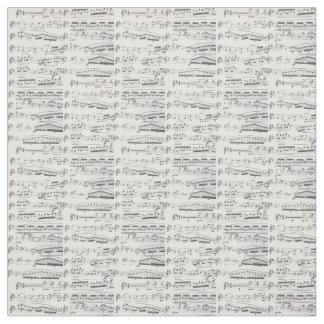 Partitura original, tecido da contagem musical