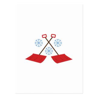 Pás do floco de neve cartão postal