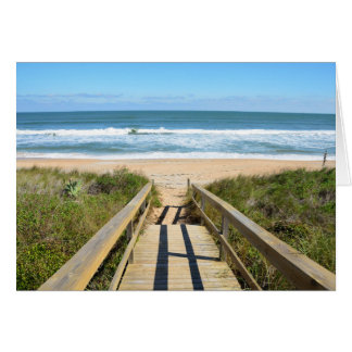 Passagem à praia cartão comemorativo