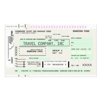 Passagem de embarque customizável modelos cartões de visita