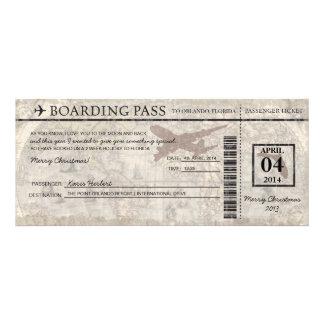 Passagem de embarque de Florida Convite Personalizado
