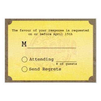 Passagem de embarque do vintage que Wedding o Convite 8.89 X 12.7cm